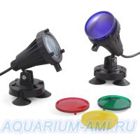 Подводная подсветка водоема