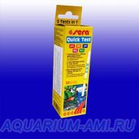 Тест для аквариумной воды SERA  Quick Test  5 в 1