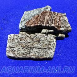 Мрамор скальный галтованный